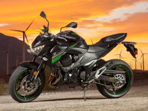 Available in Metallic Spark Black/Flat Ebony only, the Kawasaki Z800 ABS is a 49-state model that will not be sold in California.