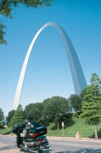 The Gateway Arch in St. Louis stands 630 feet high, and 630 feet across at the base.