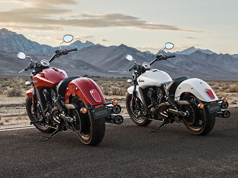 2016 Indian Scout Sixty in Indian Motorcycle Red and Pearl White