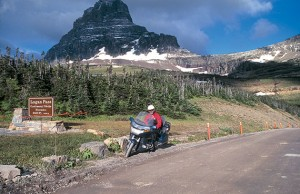 Up on top of Glacier National Park at Logan Pass.