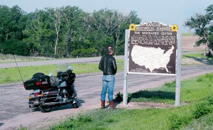 U.S Route 36 in Kansas passes close by the geographic center of the 48 contiguous states.