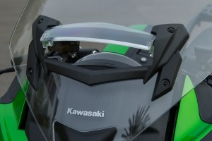 New adjustable windscreen vent has two open positions or it can be closed. When open, helmet buffeting is eliminated.