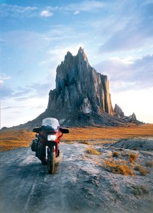 If you don't mind a little dirt-road riding you can see Shiprock up close.
