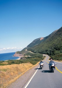 A beautiful day on the Cabot Trail, with the Gulf of St. Lawrence off to the left.