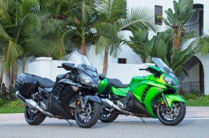 The 2015 Kawasaki Concours 14 ABS is available in Metallic Spark Black or Candy Lime Green.
