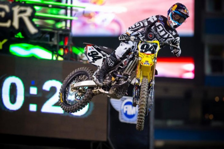 Roczen celebrates his third win of the season at Rogers Centre. Photo Credit: Jeff Kardas